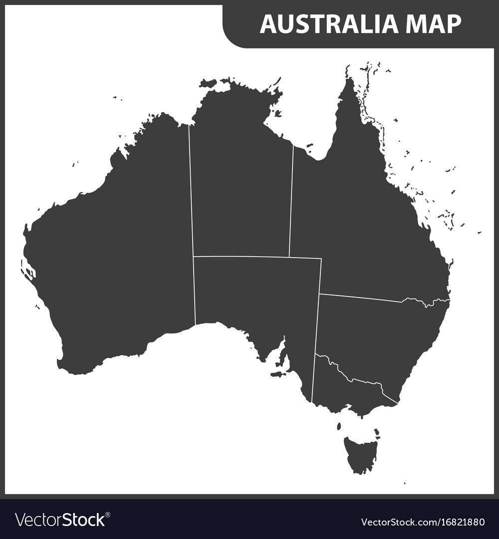 Map Of Australia Regions.The Detailed Map Of The Australia With Regions
