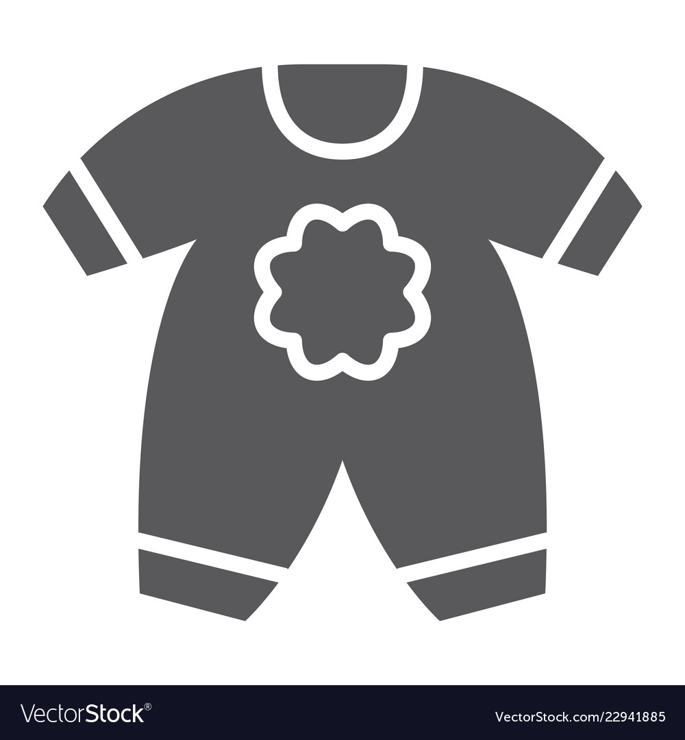 4cbe0fb671d2 Baby clothes glyph icon kid and clothing Vector Image