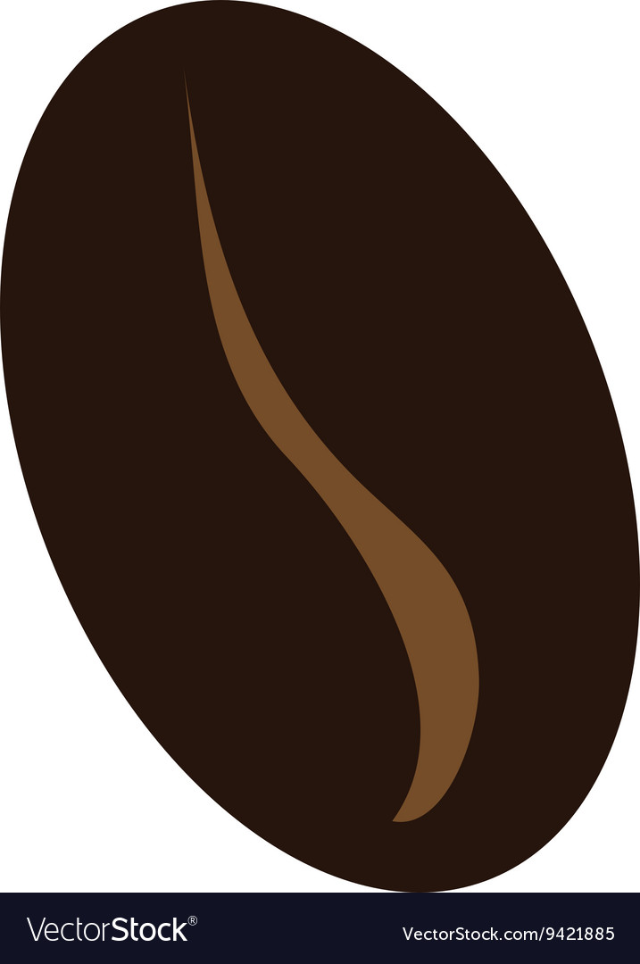 Brown Coffee Bean Graphic Royalty Free Vector Image