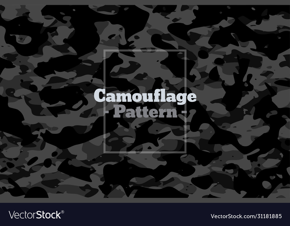 Dark gray and black camouflage pattern texture