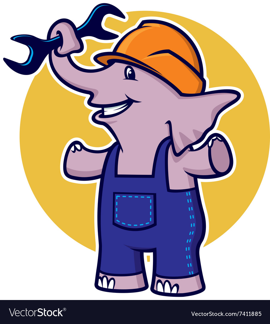 Elephant with wrench