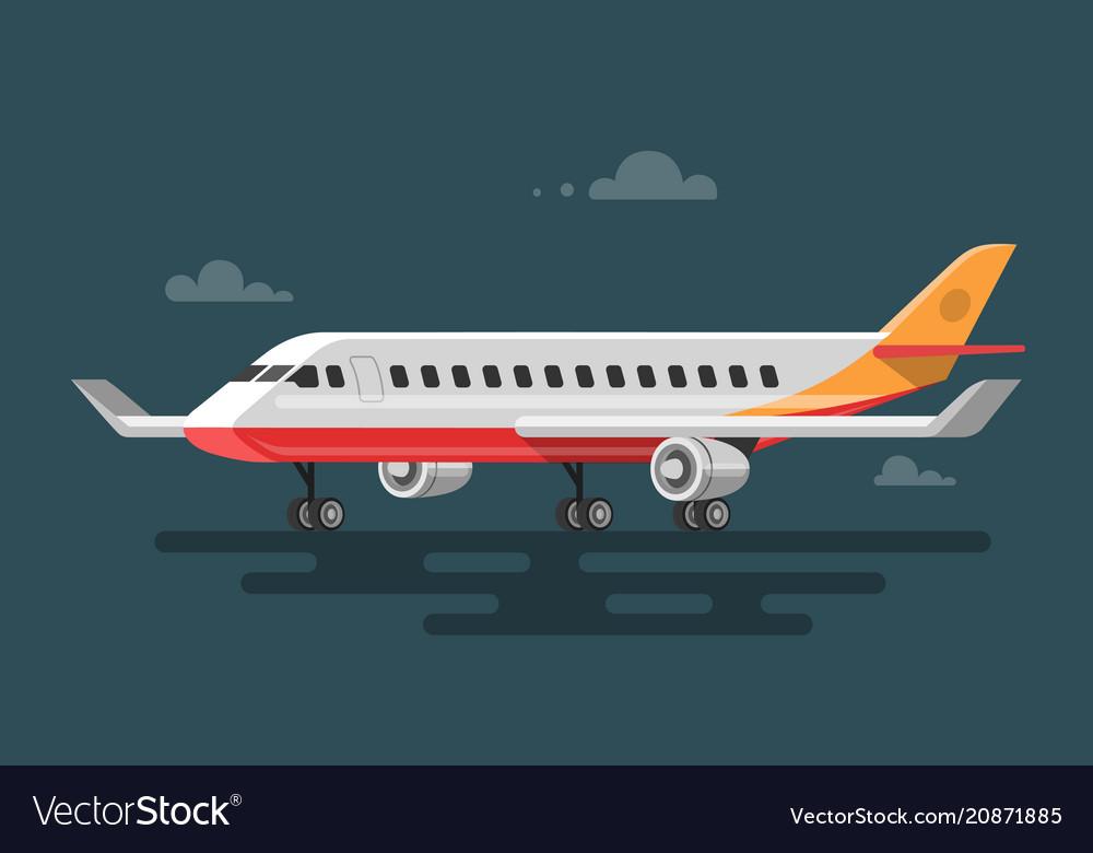 Flat aircraft