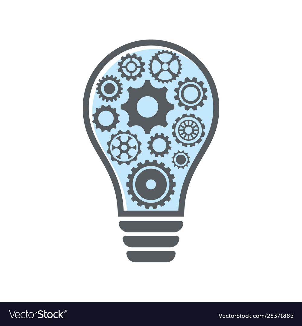 Simple light bulb with gear wheels