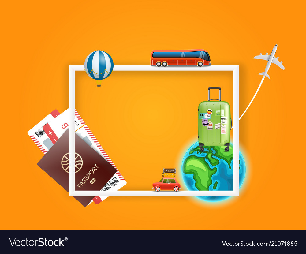 Travel concept frame for a content