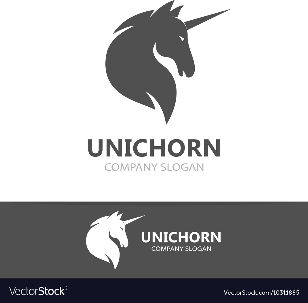 Unicorn logo template