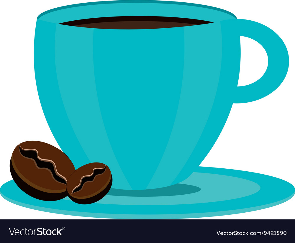 Blue coffee cup graphic