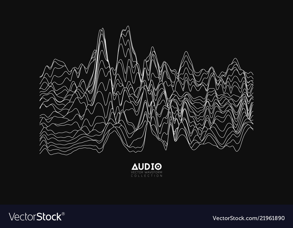 Echo audio wavefrom spectrum abstract