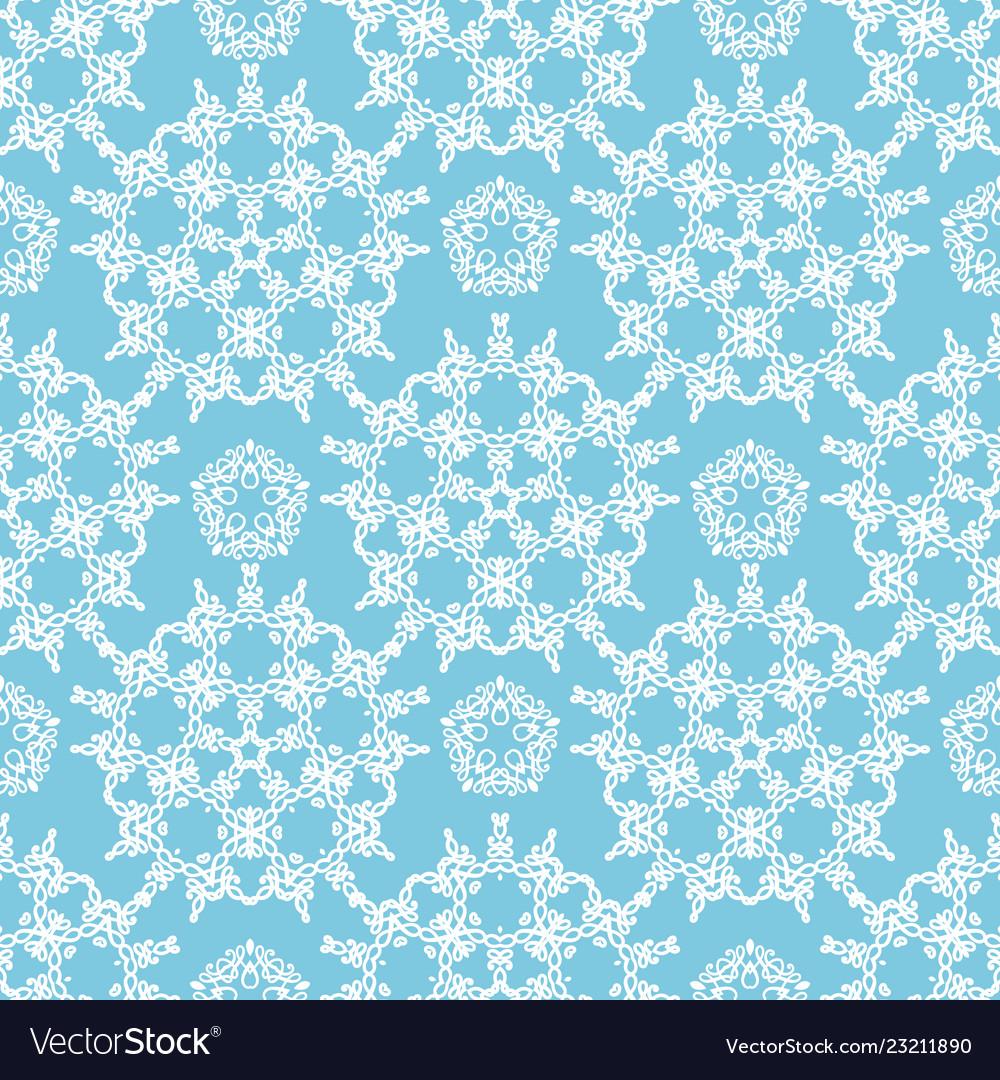 Light blue ornamental pattern