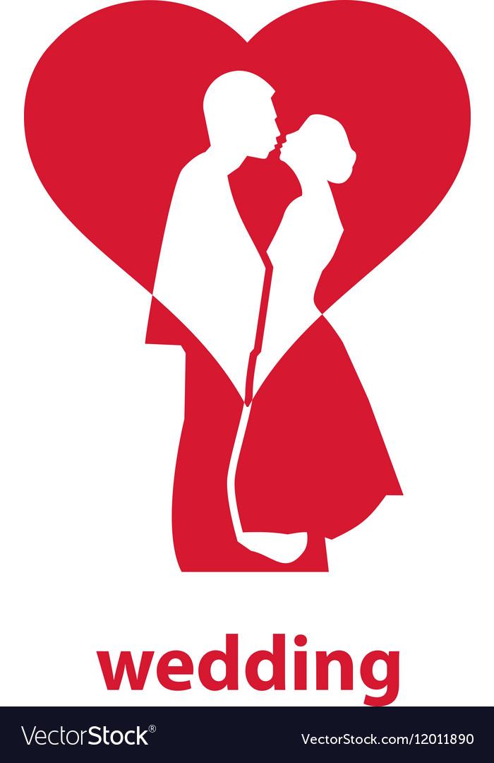 logo for wedding royalty free vector image vectorstock rh vectorstock com wedding vector clip art wedding vector clip art