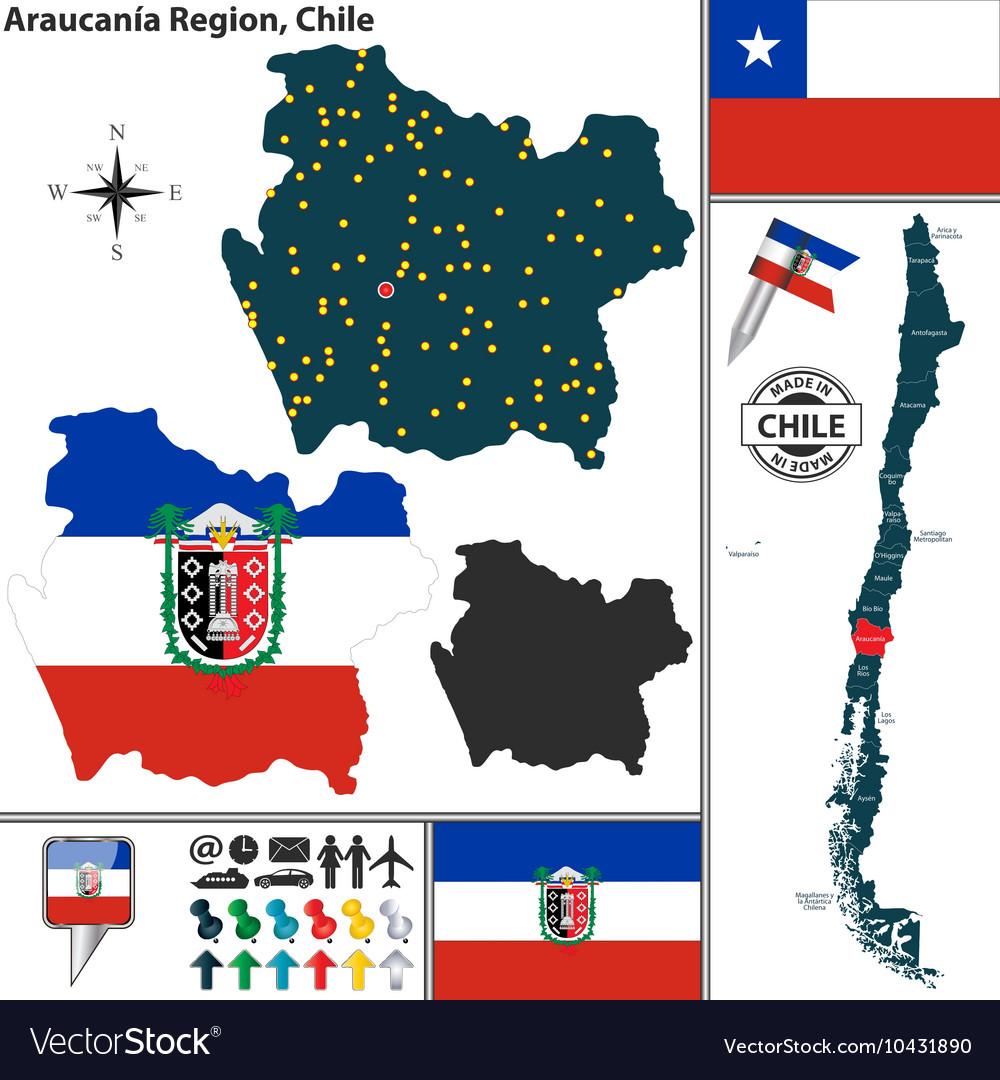 Map of Araucania