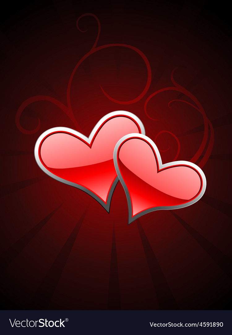 Red heart beautiful background