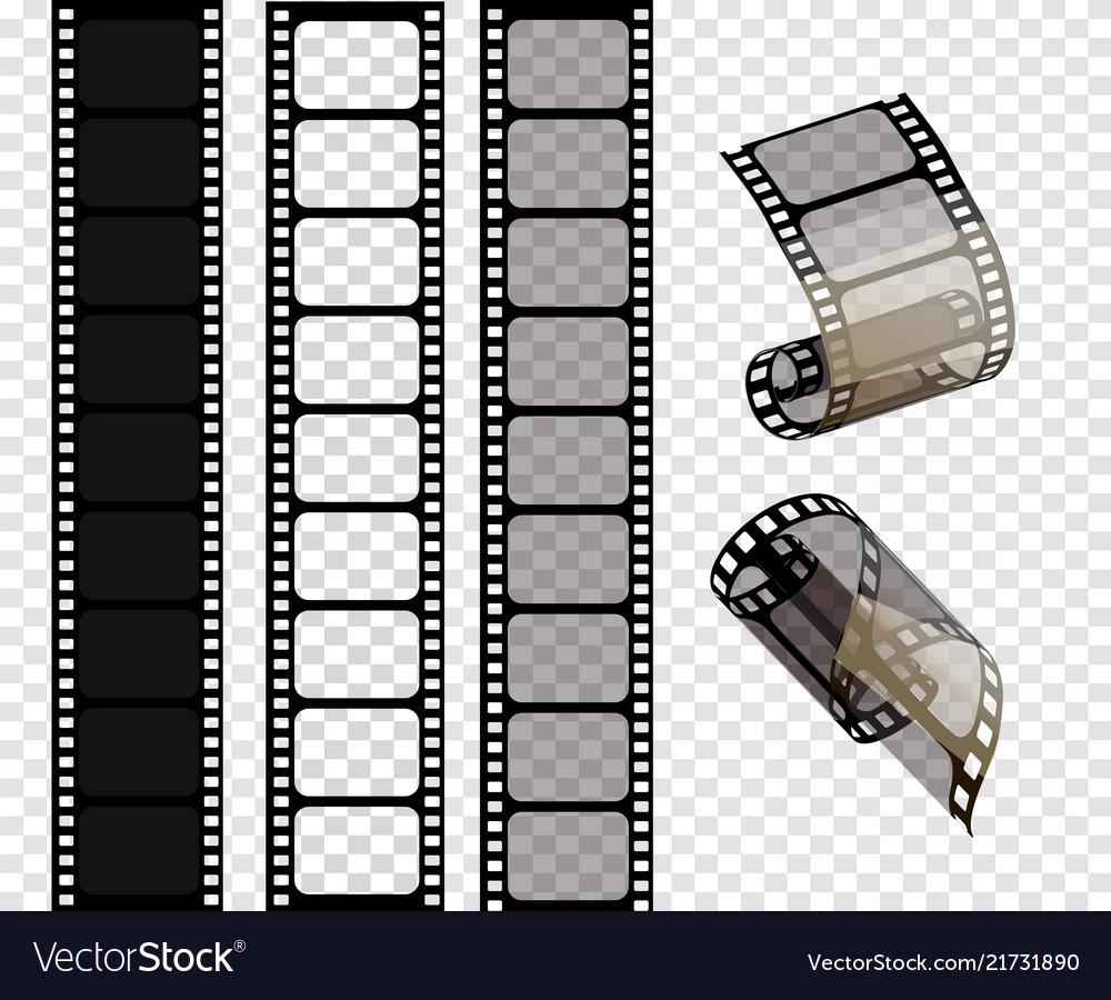 Set of film strips of