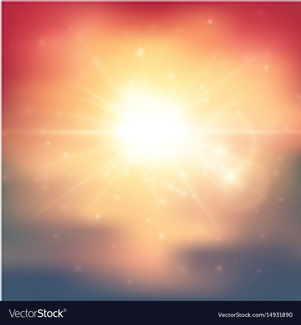 Summer light abstract background vector image