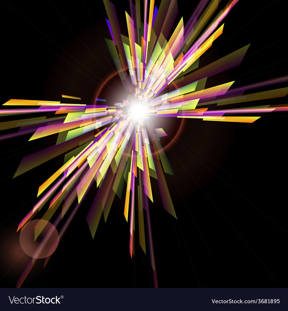 Abstract background with light burst