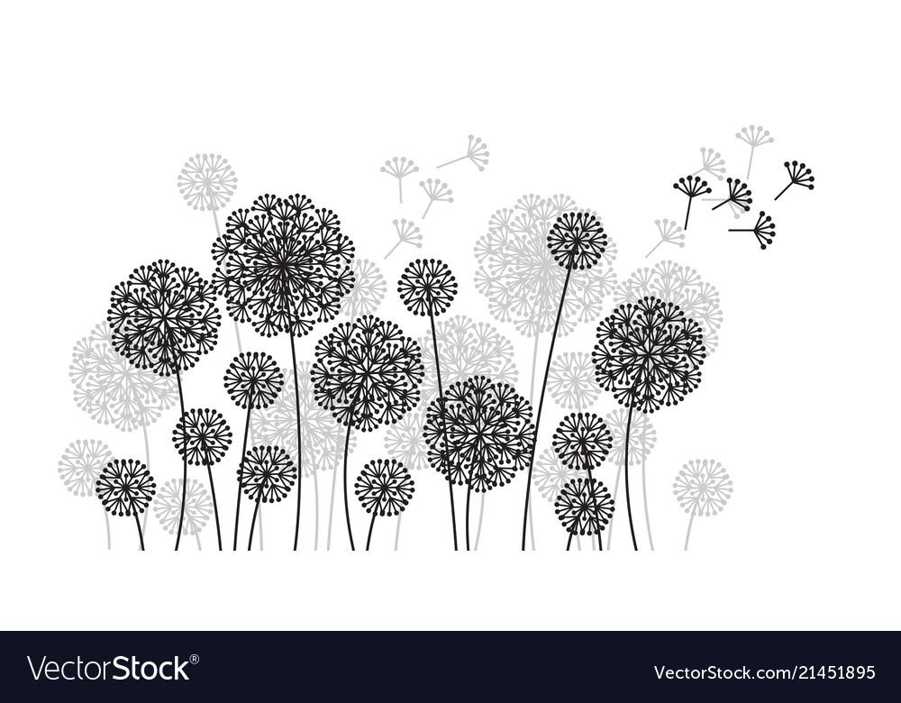 Abstract elegant decorative dandelion pattern