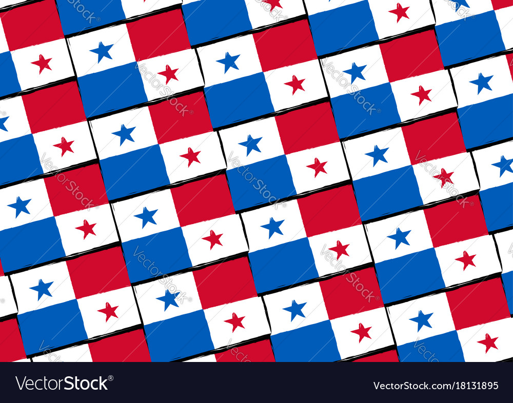 Abstract panama flag or banner