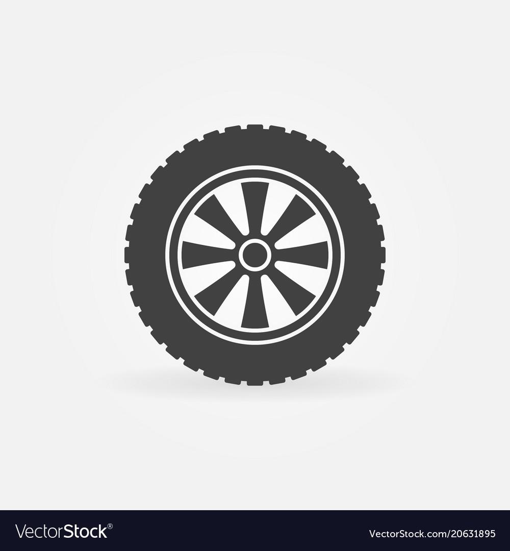 Automobile wheel icon or logo element