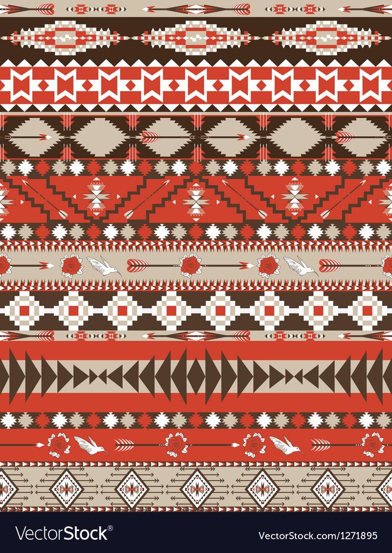 Aztecs seamless colorful pattern