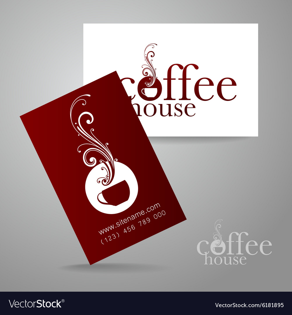 Coffee logo card