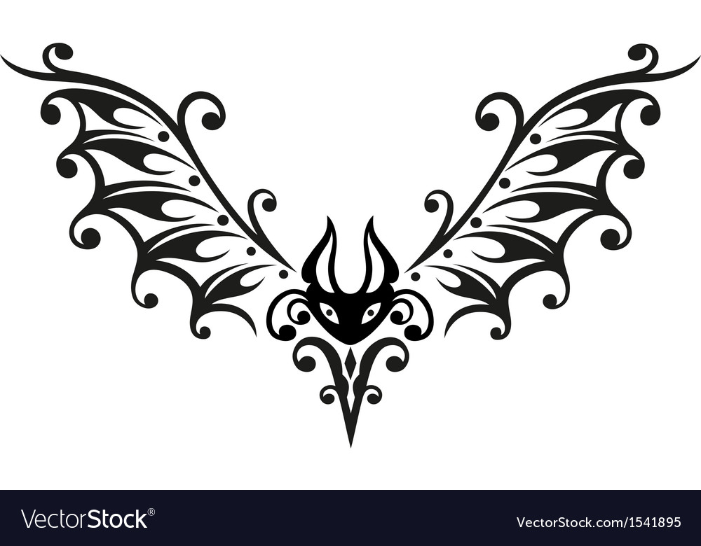 Halloween bat tribal