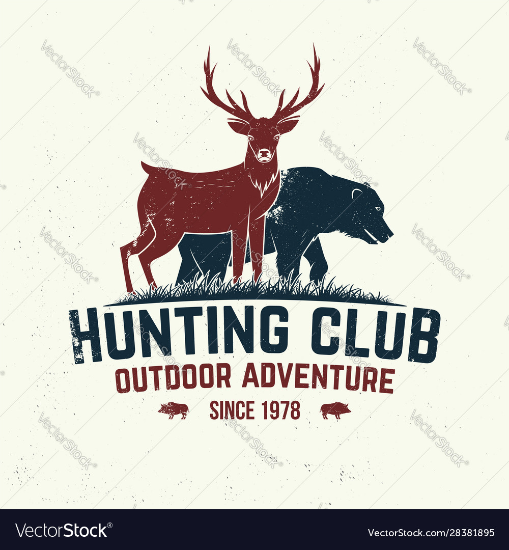Hunting club badge concept for shirt or