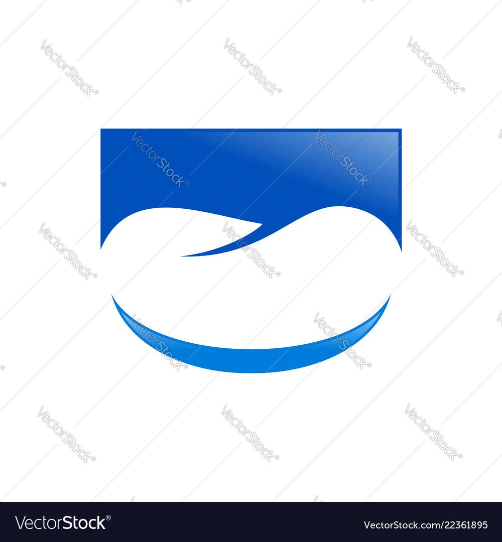 Professional dental care smile blue symbol design