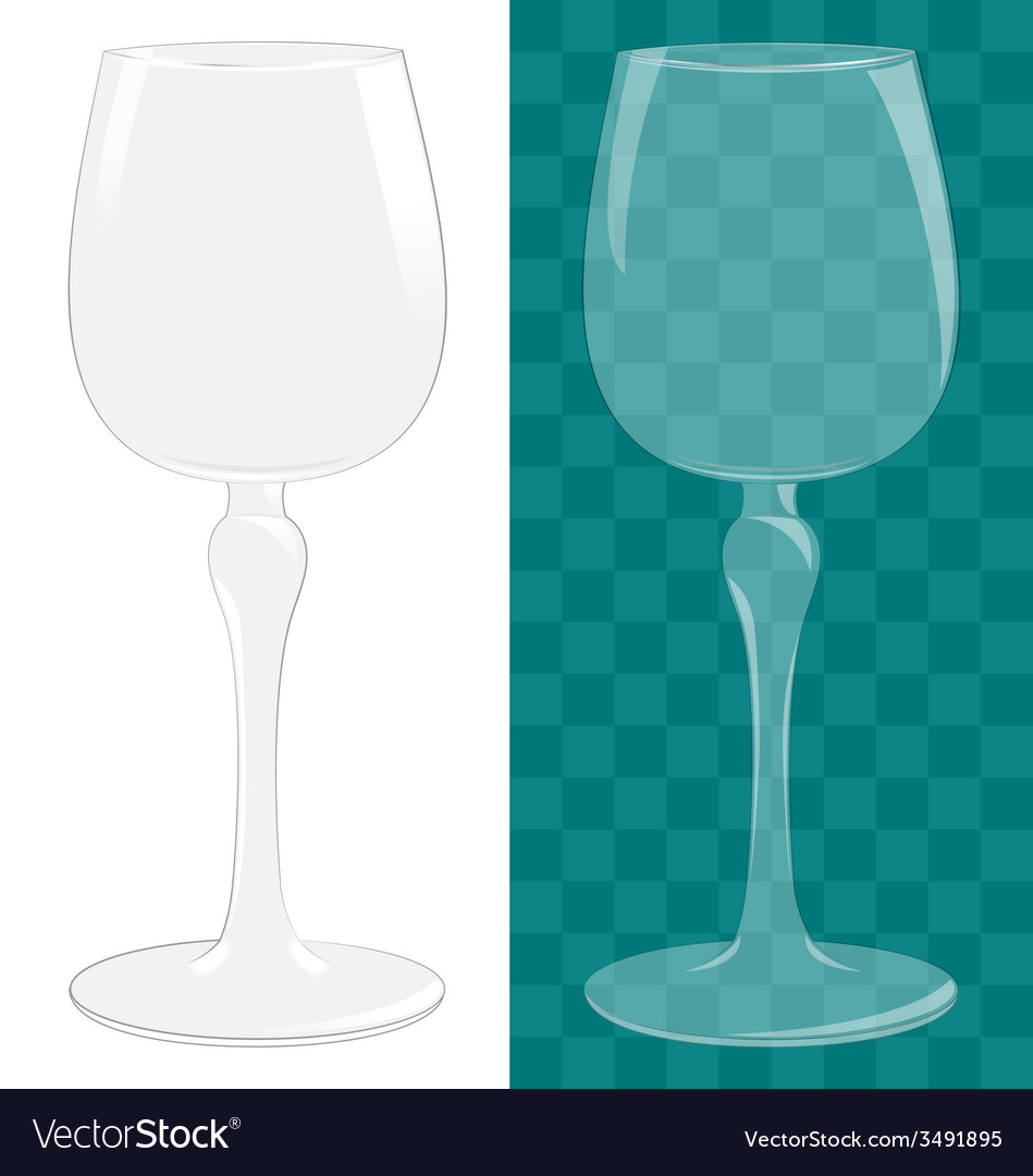 Transparent isolated wine glass vector image