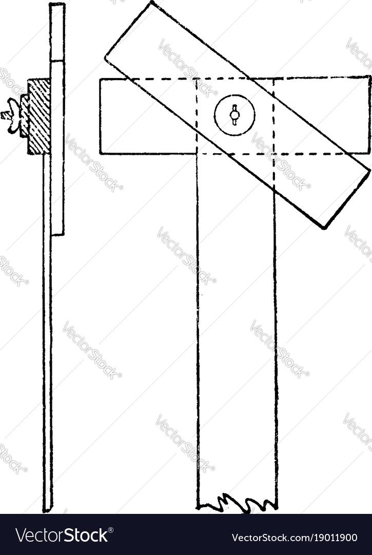 Adjustable rectangular head t square angular