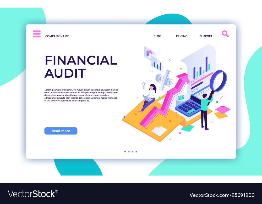 Financial audit landing page tax management