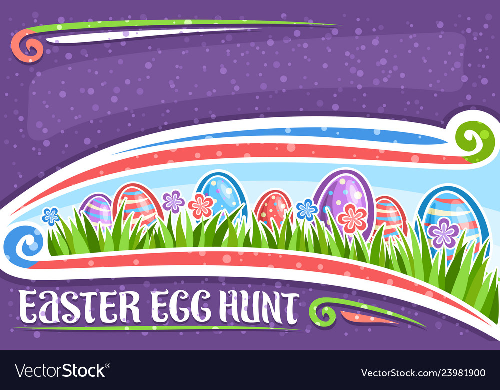 Greeting card for easter egg hunt