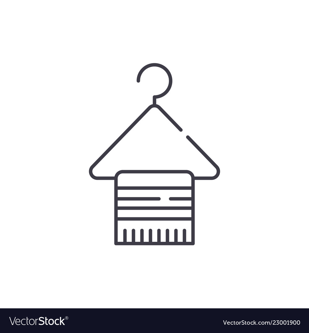 Hangers for clothes line icon concept hangers for