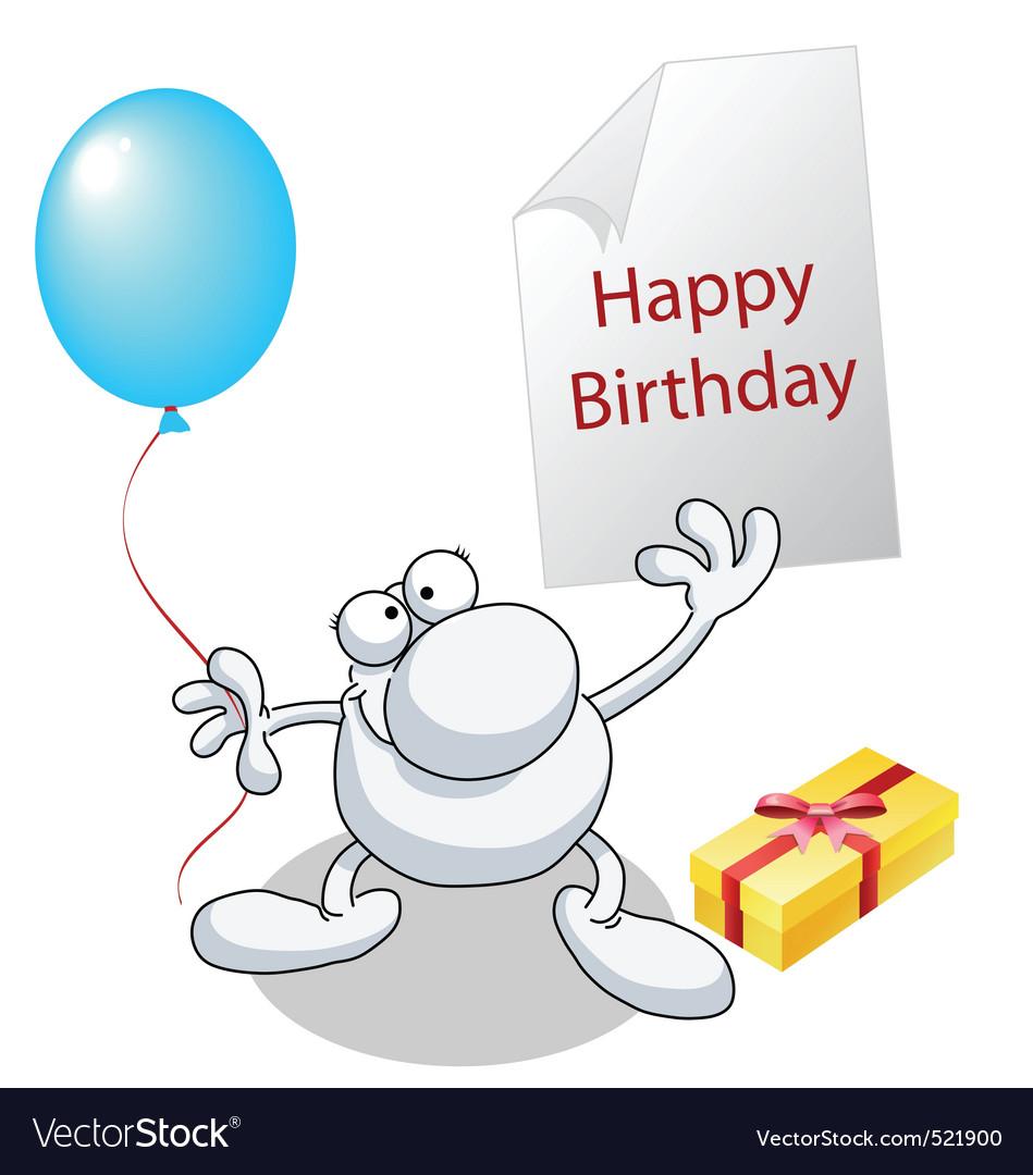 Man Happy Birthday Vector Image