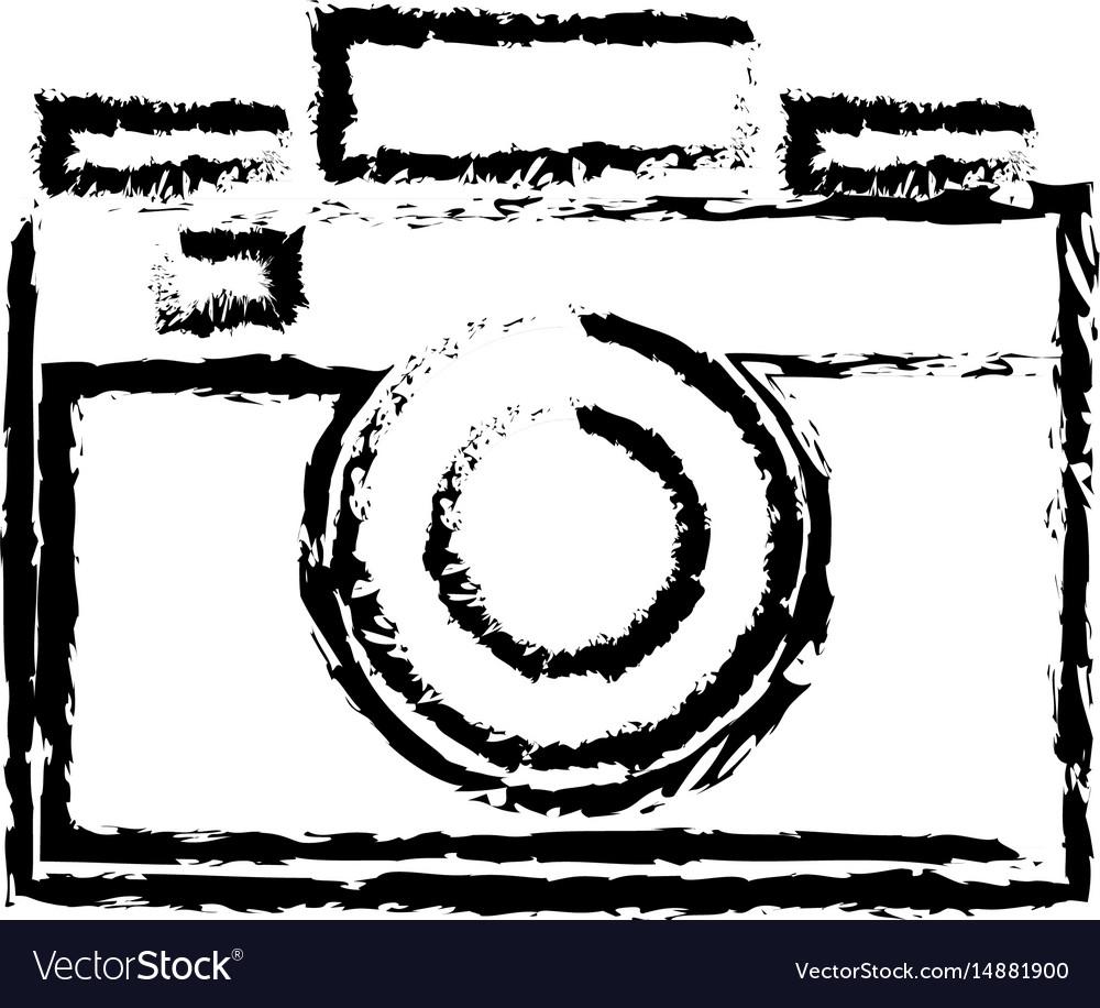 Photo camera flash lens image sketch