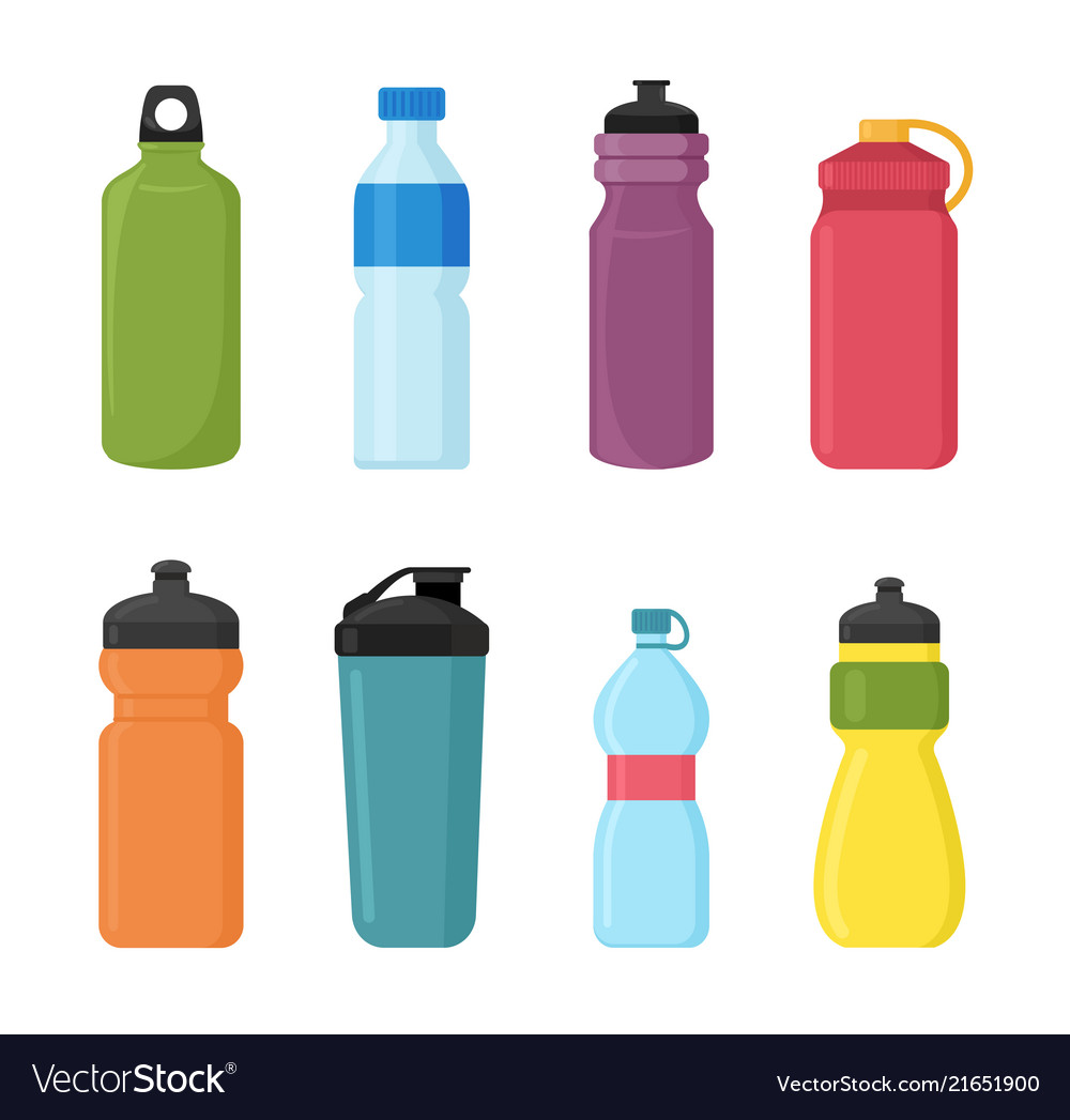 Set of bicycle plastic bottle