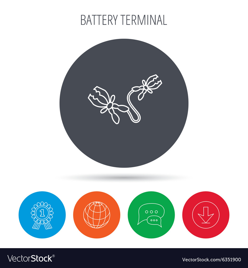 Terminal electrical icon Charging the battery