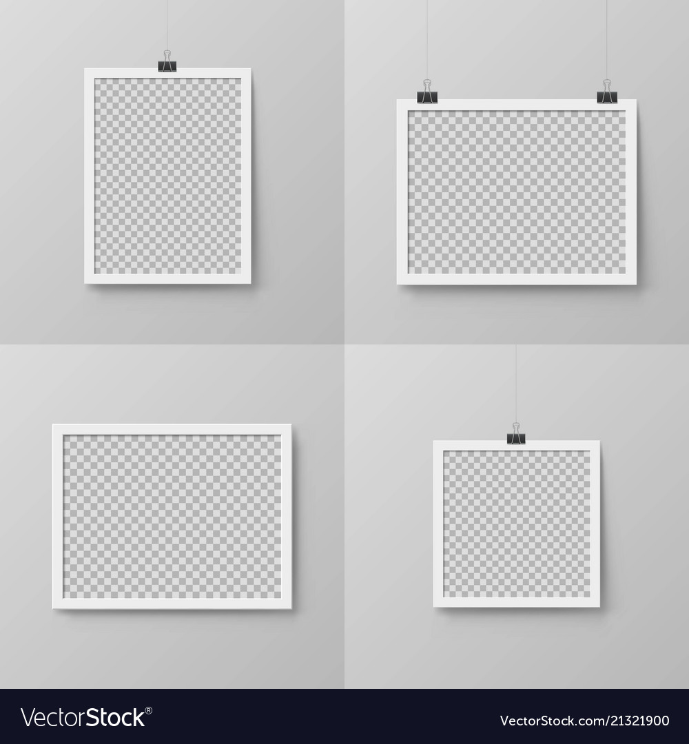 Vertical And Horizontal Realistic Photo Frames Vector Image
