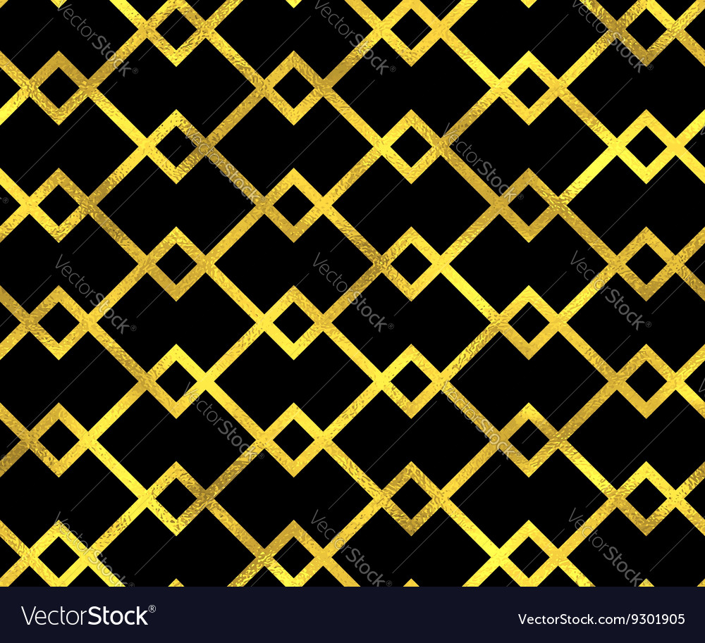 Abstract seamless pattern with golden lines