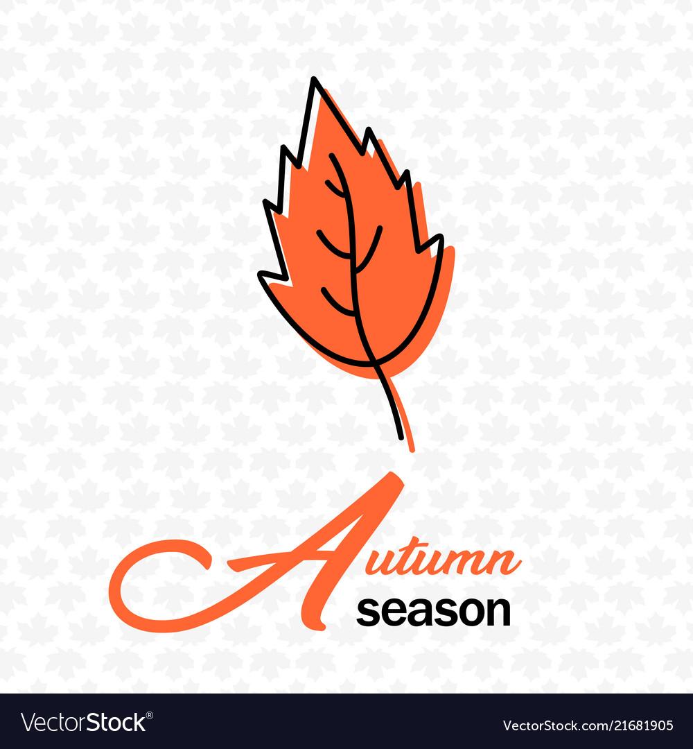 Autumn season orange leaves maple background