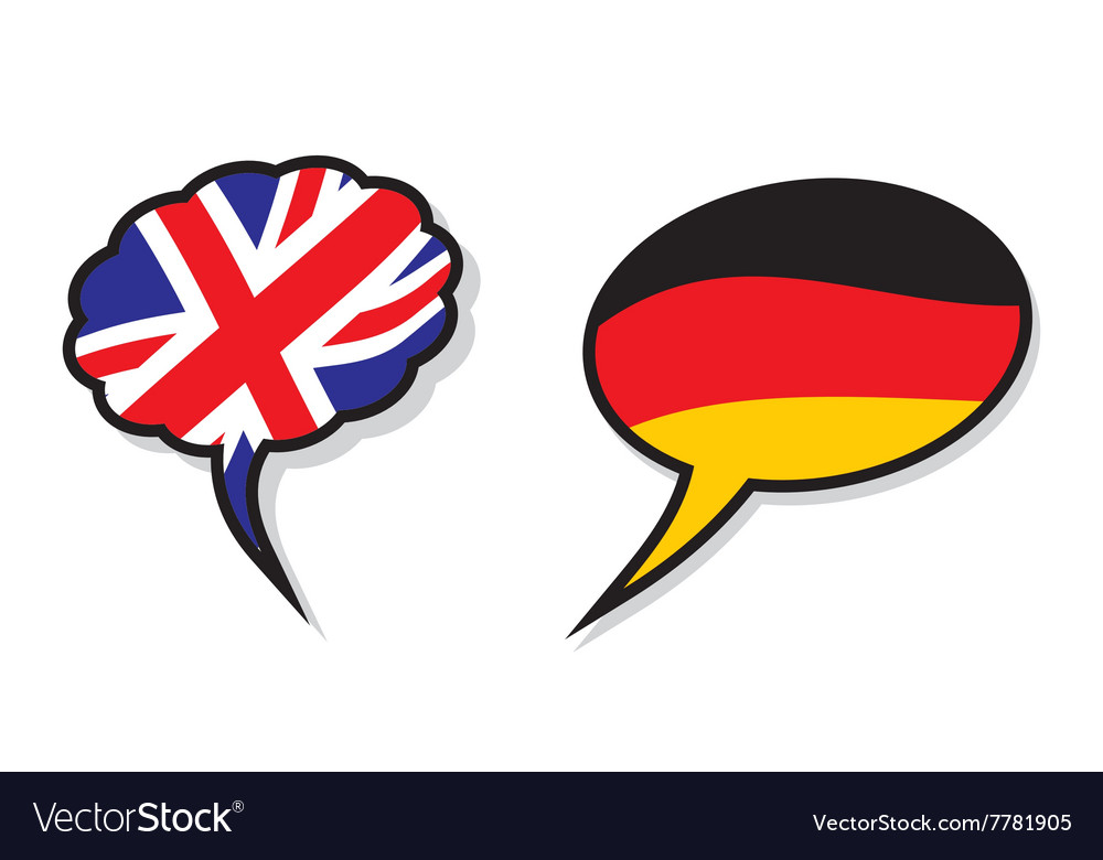 Britain germany cloud flags vector image