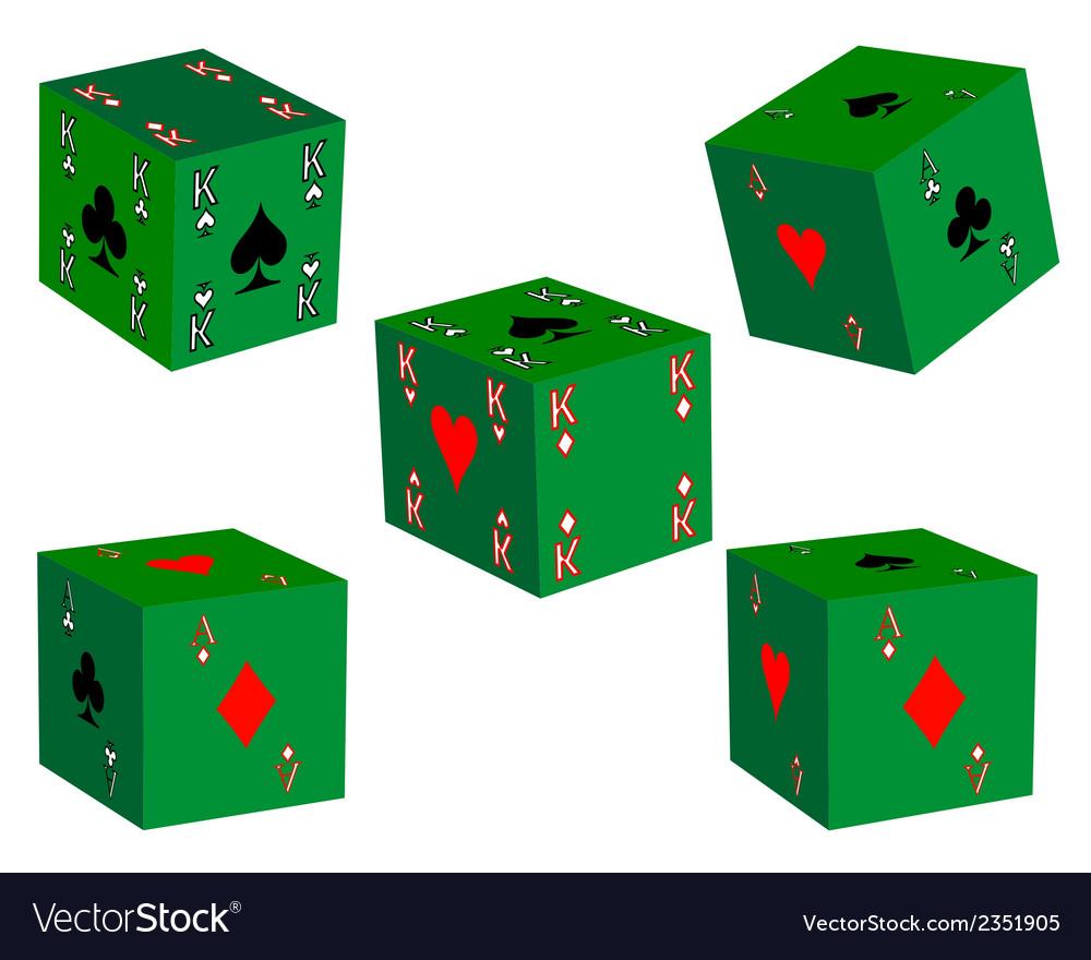 five dice royalty free vector image vectorstock
