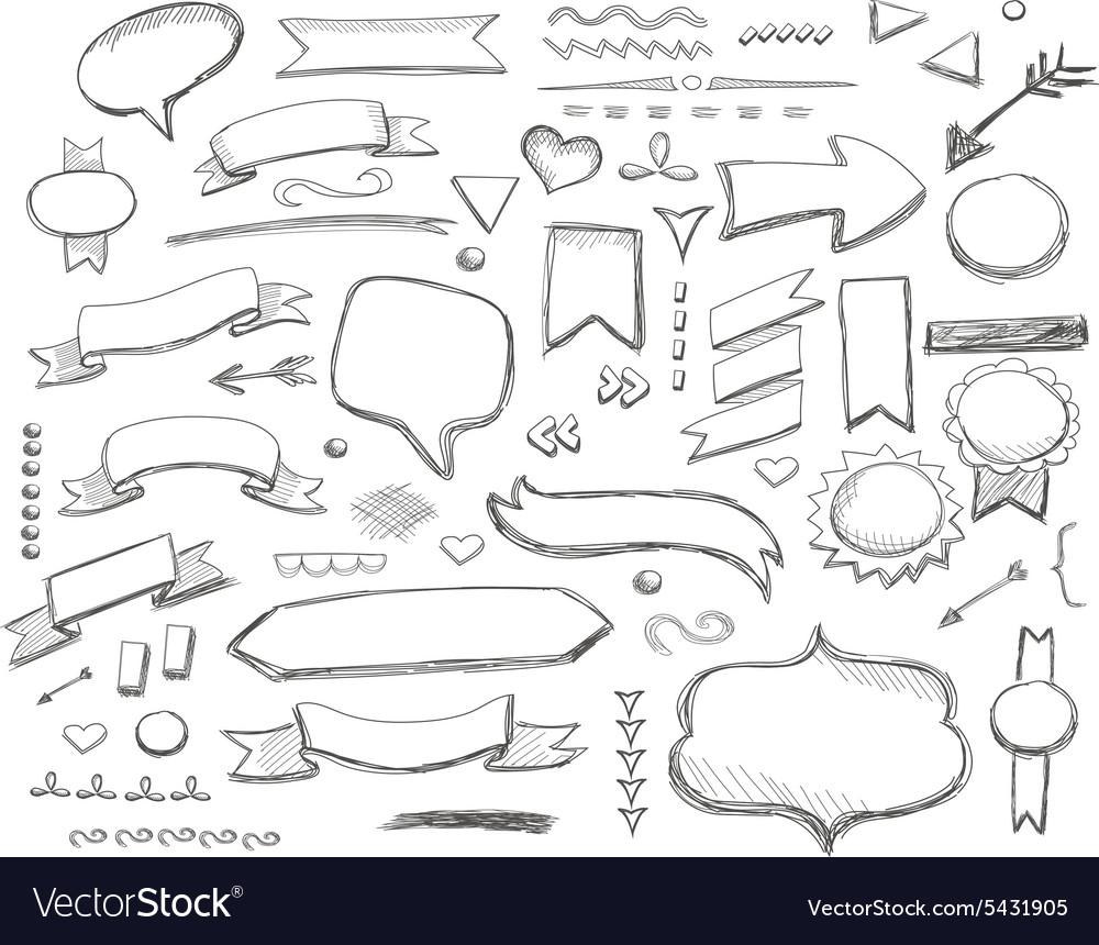 Hand drawn sketch hand drawn elements