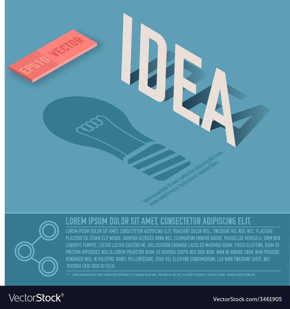 Idea card business background concept desig