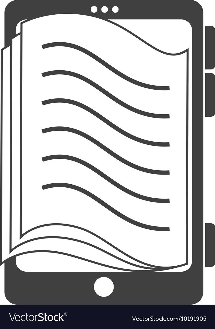 Reader Electronic Book Icon Graphic