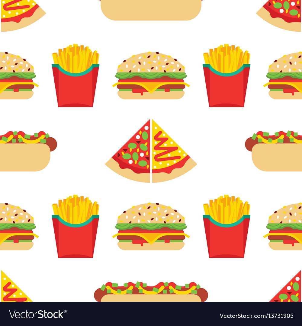 Seamless pattern fast food