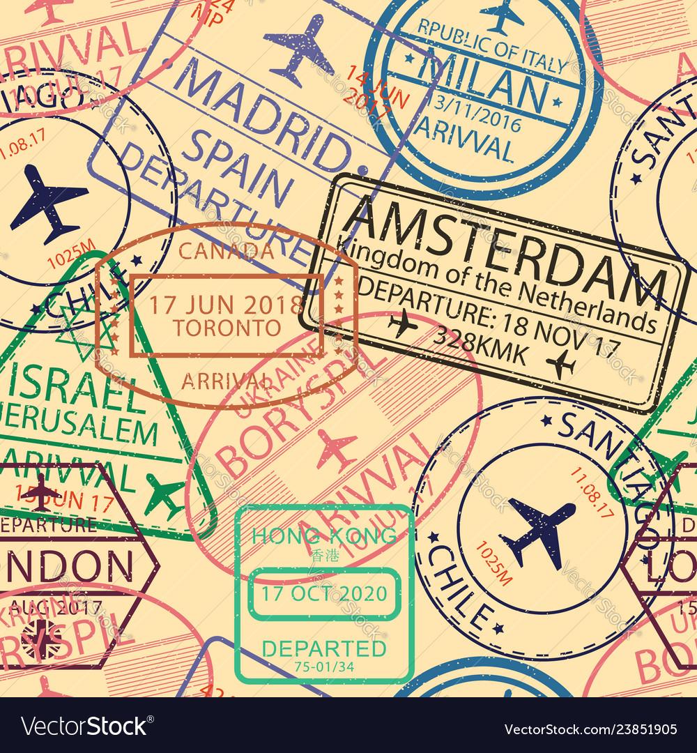 Seamless visa stamps