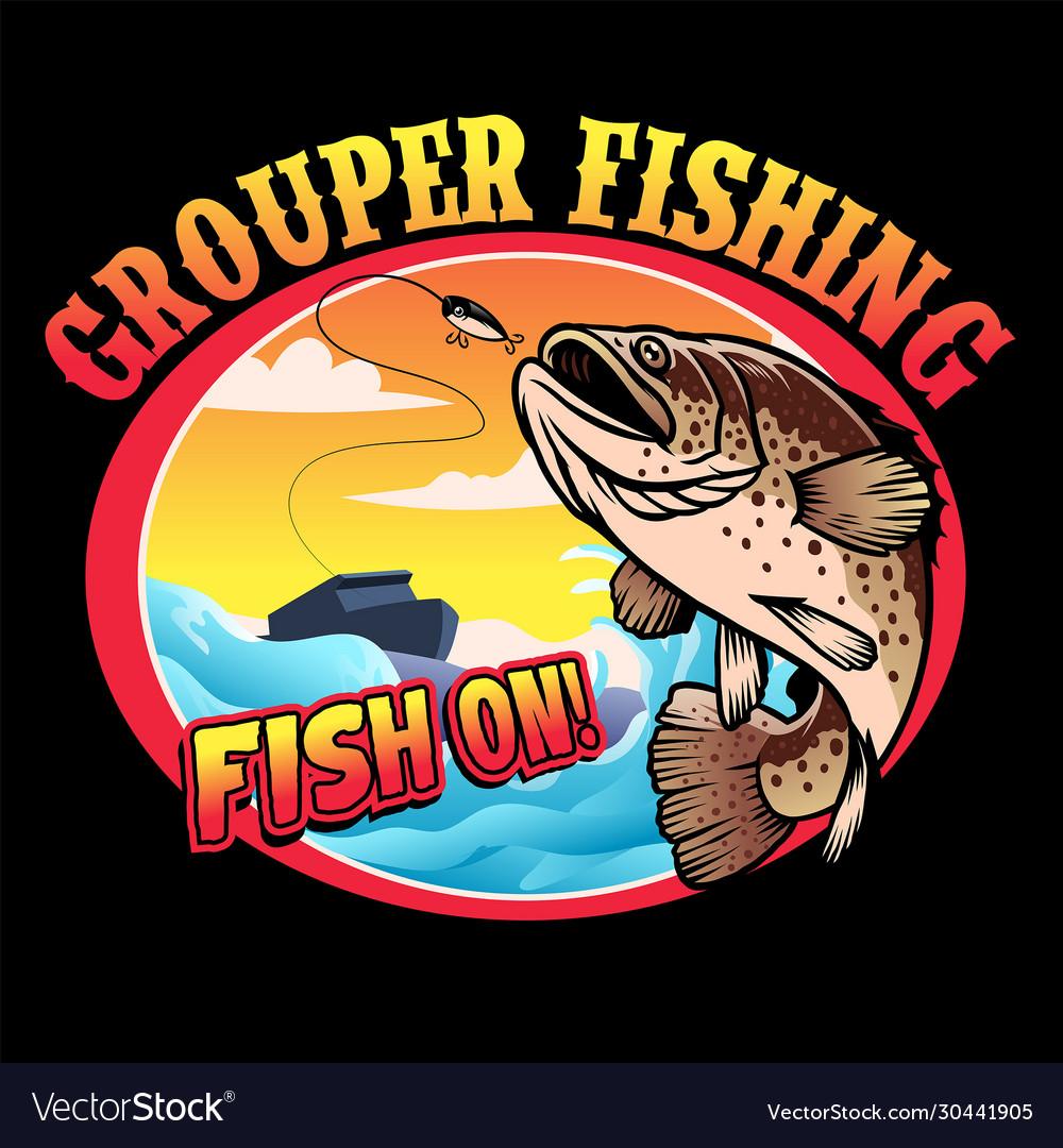 Shirt design grouper fishing