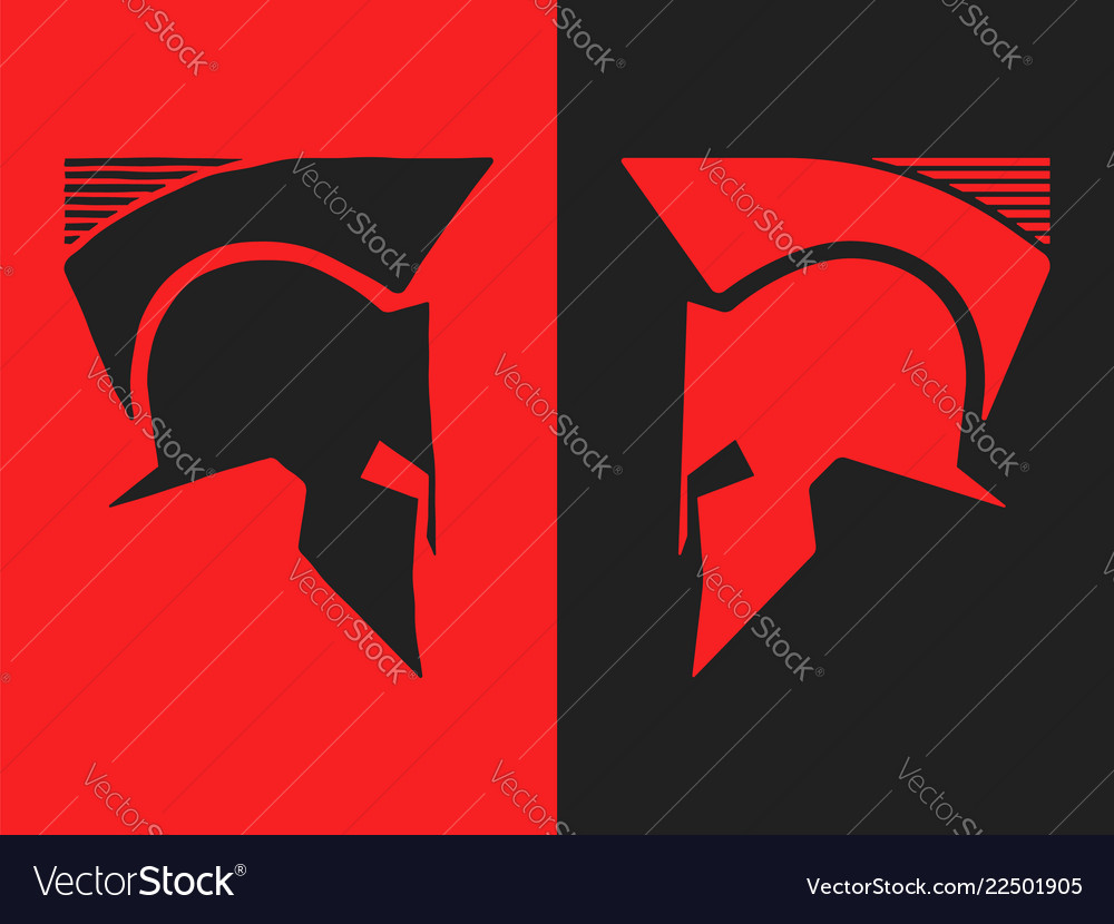 Spartan roman or greek helmet versus background