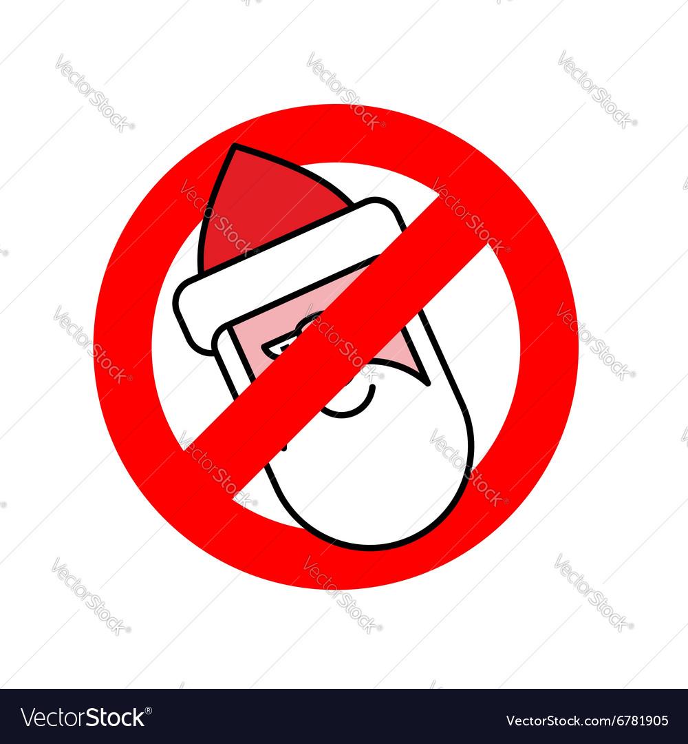 Stop Santa Claus Ban for Christmas Ban for Santa