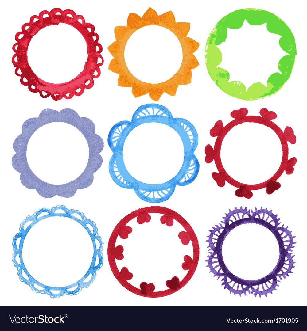 Super cool watercolor round frames royalty free vector image super cool watercolor round frames vector image thecheapjerseys Image collections