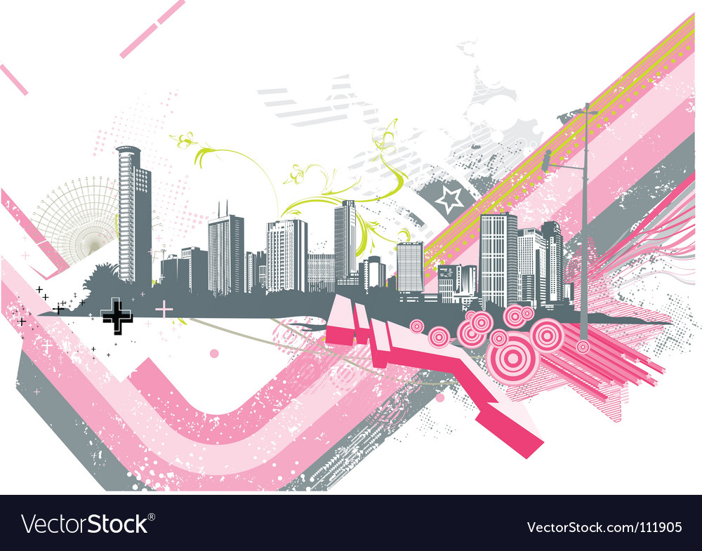 Urban background vector image